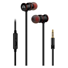 Audifonos Argom 3.5mm In-ear Ultimate Sound Klass Magnetic con Micrófono Negro ARG-HS-0628BK