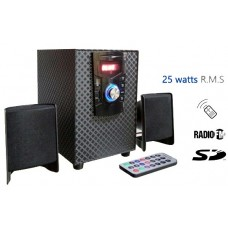 WOOFER 2.1 25W BT+FM+USB+SDCARD+ CONTROL+LED DISPLAY