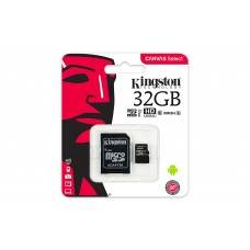 Kingston Canvas Select - Tarjeta de memoria flash (adaptador microSDHC a SD Incluido) - 32 GB