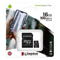 Kingston Canvas Select Plus - Tarjeta de memoria flash (adaptador microSDHC a SD Incluido) - 16 GB